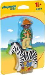 Playmobil Čuvaj živalskega vrta z zebro (9257)