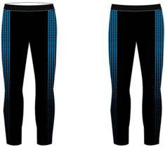 R2 fantovske dolge funkcionalne hlače, črno-modre