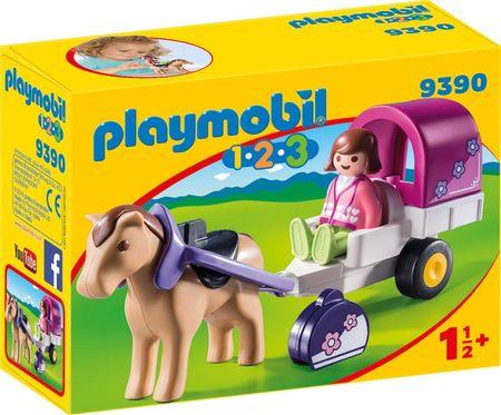 Playmobil Kočija s konji (9390)