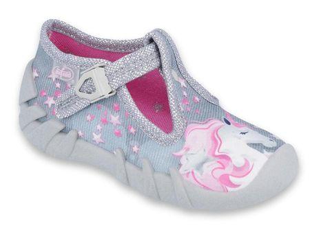 Befado dívčí bačkůrky 110P363 18 ružová/sivá