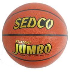 SEDCO Míč basket Sedco kůže OFFICIAL 6 NEW JUMBO AKCE DOPRODEJ