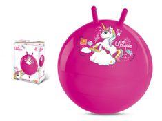 Mondo Mondo skákací míč Kangaroo Jednorožec 06601 růžový