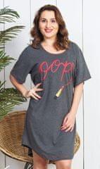 Vienetta Dámská noční košile s krátkým rukávem Rtěnka barva tmavě šedá