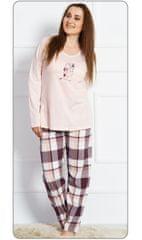 Vienetta Dámské pyžamo dlouhé Medvěd s čepicí barva smetanová