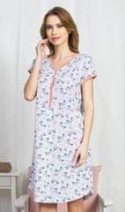 Vienetta Dámská noční košile s krátkým rukávem Zebry barva starorůžová
