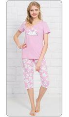 Vienetta Dámské pyžamo kapri Štěně a hvězdy barva světle růžová