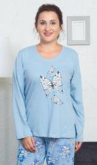 Vienetta Dámské pyžamo dlouhé Izabela barva světle modrá