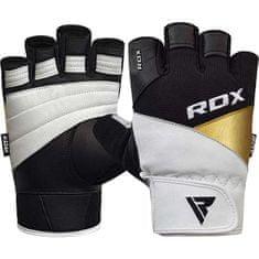 RDX Tréningové čierno-biele rukavice GYM GLOVE LEATHER S11 WHITE/BLACK, koža, veľkosť XXL