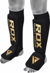 RDX Chrániče na priehlavok a píšťalu HOSIERY SHIN INSTEP FOAM BLACK/GOLD, veľkosť XXL