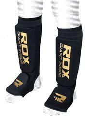 RDX Chrániče na priehlavok a píšťalu HOSIERY SHIN INSTEP FOAM BLACK/GOLD, veľkosť XL