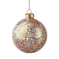 Butlers Vánoční koule třpytivá 8 cm - mix