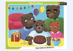 Nathan Frame Puzzle - Little Brown Bear 35 dielikov