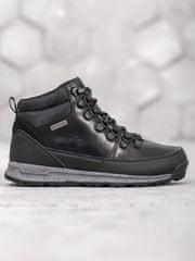 Moderní dámské černé kotníčkové boty bez podpatku