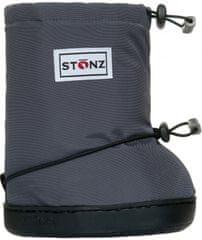 Stonz Detské nepremokavé topánočky/návleky/snehule šedé