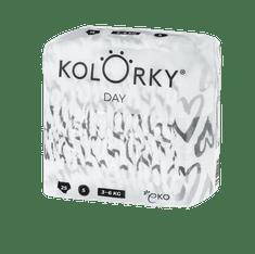 KOLORKY DAY - srdce - S (3-6 kg) - 25 ks - jednorázové eko plenky