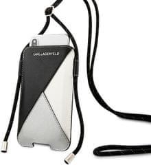 Karl Lagerfeld Book Puzdro pre iPhone 11 Pro Max Black Grey (EU Blister), KLHCXLWPSLBK