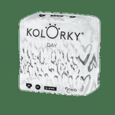 KOLORKY DAY - srdce - M (5-8 kg) - 21 ks - jednorázové eko plenky