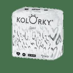 KOLORKY DAY - srdce - XL (12-16 kg) - 17 ks - jednorázové eko plenky