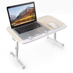 TaoTronics TT-SD003 večnamenska nastavljiva miza za prenosnik, svetlo rjava