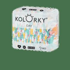KOLORKY DAY - štětce - XL (12-16 kg) - 17 ks - jednorázové eko plenky
