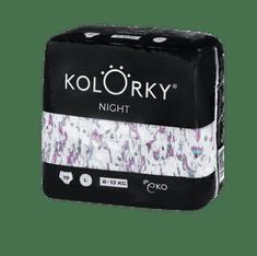 KOLORKY NIGHT - L (8-13 kg) - 19 ks - noční jednorázové eko plenky
