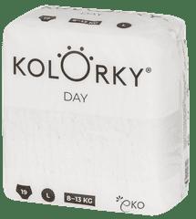 KOLORKY DAY NATURE - L (8-13 kg) - 19 ks - jednorázové eko plenky