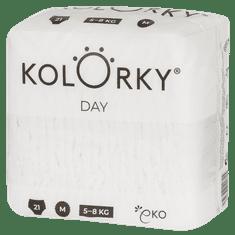 KOLORKY DAY NATURE - M (5-8 kg) - 21 ks - jednorázové eko plenky