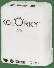 KOLORKY jednorazowe pieluchy ekologiczne DAY NATURE - XL (12 - 16 kg), 17 szt.