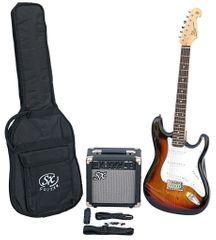 SX  SE1 Electric Guitar Kit 3-Tone Sunburst