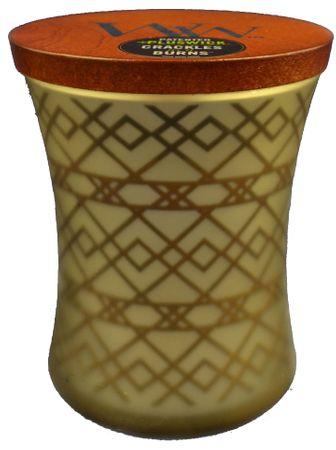 Woodwick Fireside sveča 275 g - okrasna vaza