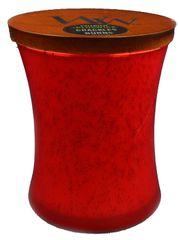 Woodwick Pomegranate sveča 275 g - okrasna vaza