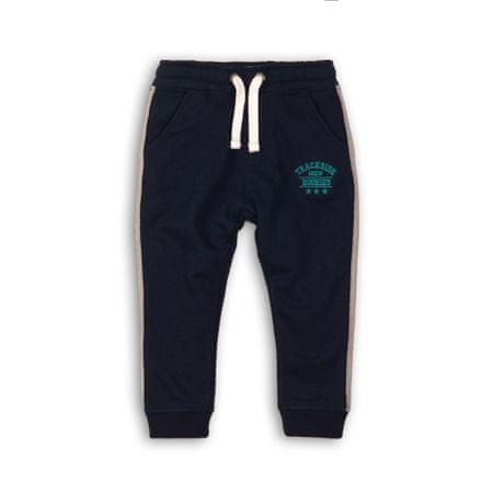 Minoti chłopięce spodnie dresowe CAMPUS 8, 74 - 80 ciemnoniebieskie