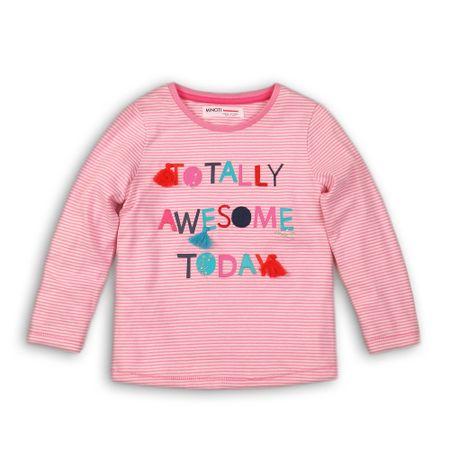Minoti Lodge 5 dekliška bombažna majica z dolgimi rokavi, 74 - 80, roza
