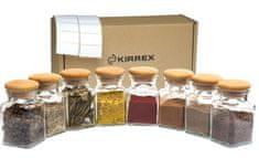 Kirrex sada 8 kusů skleněných kořenek s dřevěným víčkem - 150 ml