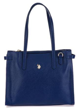 U.S. Polo Assn. Jones Double Handle ženska torbica, modra