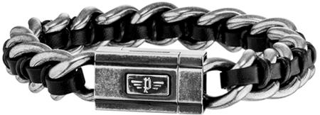 Police Moška zapestnica s Shock II PJ26052BSE / 01 (Dolžina 19 cm)