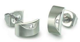 Boccia Titanium Elegantni uhani iz titana z diamanti 05007-02