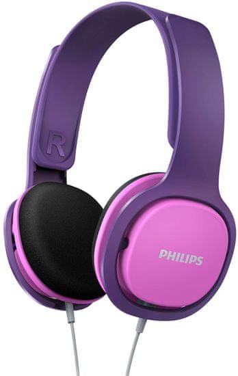 Philips SHK2000 sluchátka, růžová