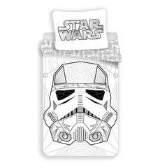 Jerry Fabrics dječja posteljina Star Wars, bijela