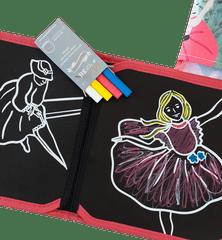 Jaq Jaq Bird Kreslicí knížka/omalovánka s křídami JAQ JAQ BIRD Baletky