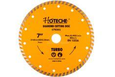 Hoteche Diamantový rezný kotúč 180 mm, TURBO - HT570305 | Hoteche