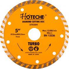 Hoteche Diamantový rezný kotúč 125 mm, TURBO - HT570304 | Hoteche