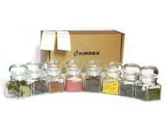 Kirrex sada 8 kusů skleněných kořenek se skleněným víčkem - 120 ml