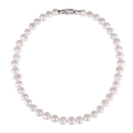 JwL Luxury Pearls Naszyjnik z pereł wykonany z barokowych pereł i cyrkonii JL0597 srebro 925/1000