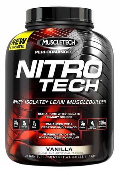 MuscleTech Nitro-Tech Performance 1800g čokoláda