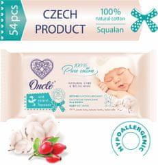 Onclé Nedves törlőkendők gyermekek számára ONCLÉ természetes Squalannal 54 db a csomagolásban