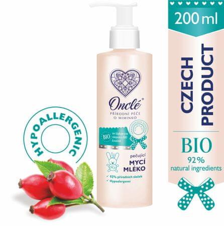 Onclé BIO pielęgnujące mleczko do mycia dla dzieci ONCLÉ 200ml