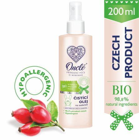 Onclé ONCLÉ BIO dječje ulje za čišćenje za intimnih dijelova, 200 ml