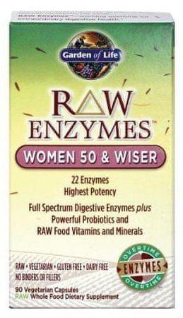 Garden of Life RAW Enzymy Women 50 Wiser pro ženy 90kapslí