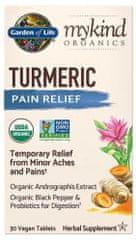 Garden of Life Mykind Organics Turmeric Pain Relief - proti bolesti 30tablet